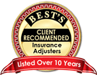 Best's Client Recommended Insurance Adjusters Award